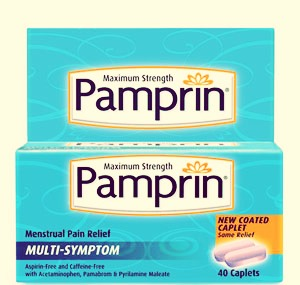 Pamprin helps with all the period symptoms and is like a step up from advil, so if your cramps are unbearable and advil won't help try pamprin:)