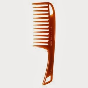 after your shower, start from the bottom of your hair and work your way up with a wide toothed comb. Never use a brush on your hair while it's wet because it will just cause split ends and it's super super bad to do that.
