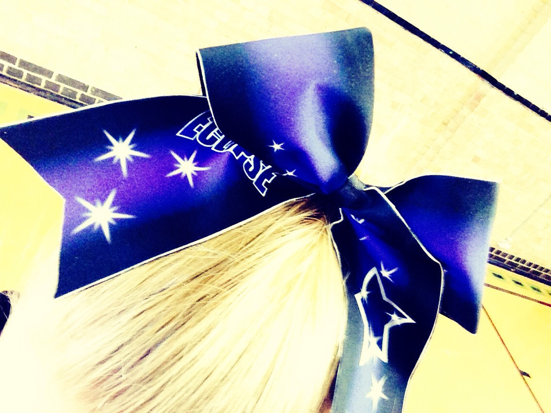 Cheer Bows!! One of the main symbols in the cheer world, yes I do cheer for a squad called London ecplise
