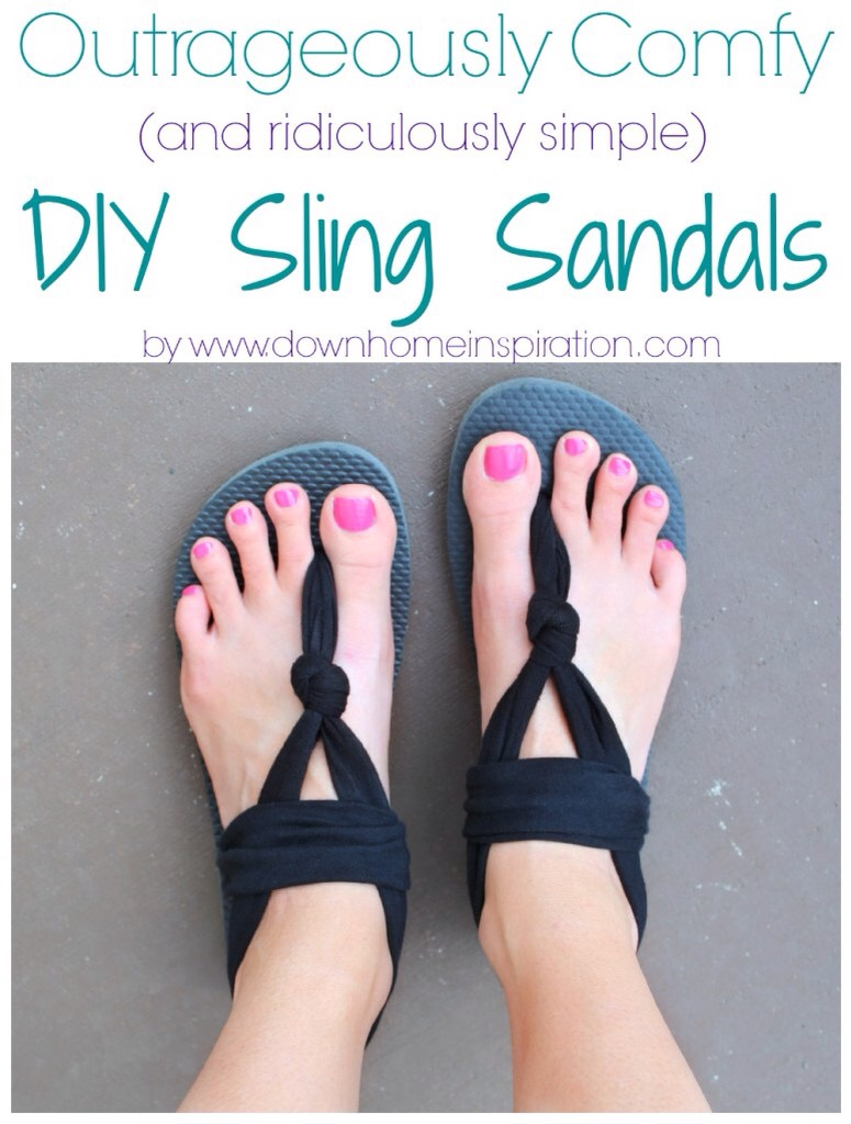 http://www.downhomeinspiration.com/outrageously-comfy-ridiculously-simple-diy-sling-sandals/