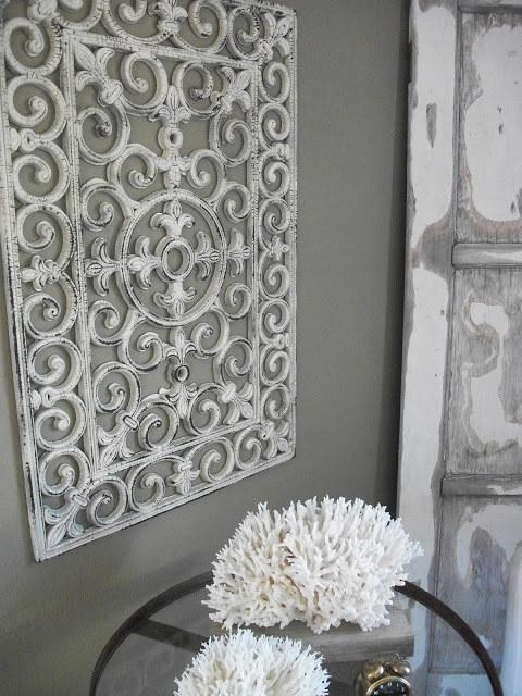 13. Pretend your rubber door mat is antiqued iron.