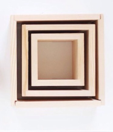 You will also need wood shaped into squares. Make sure to get different sizes to make a cool effect.