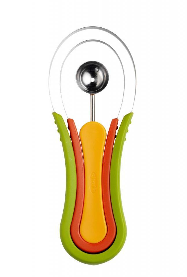 Unique Gadgets http://kitchengadgetscenter.com/chefn-scoop-troop-melon-baller-and-fruit-scoop-set/