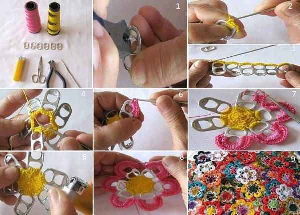 http://www.escamastudio.com/pages/how-to-crochet-flowers-pop-tabs