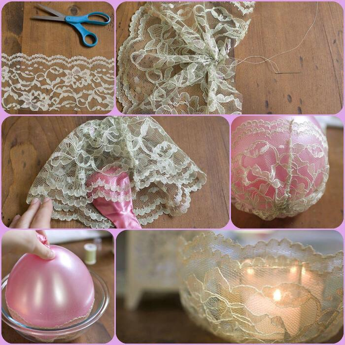 Lace candle holder u003d super vintage Musely