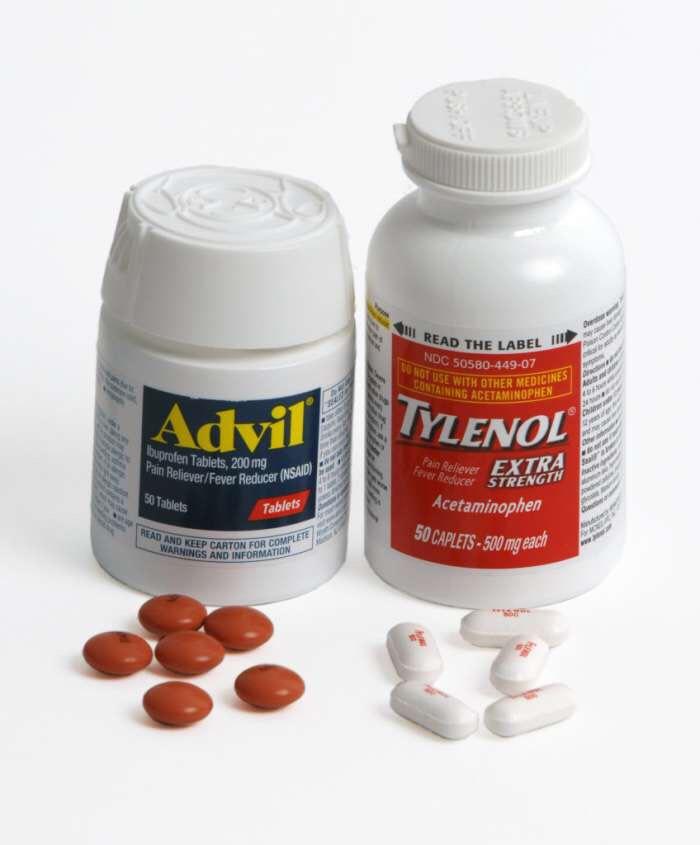 Tylenol or Advil for headaches.