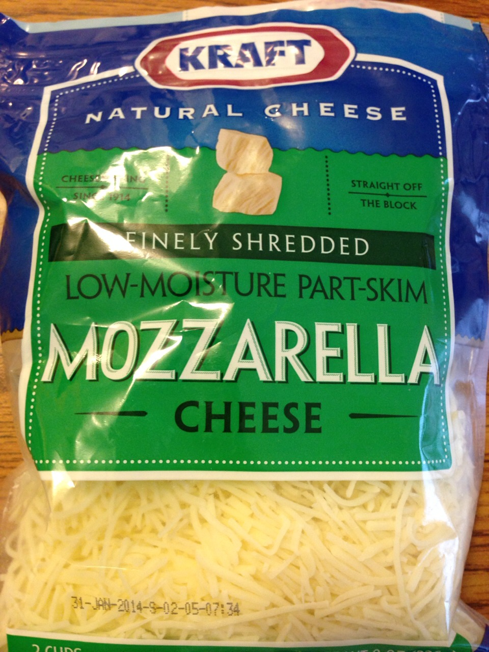 I then sprinkle the top with kraft mozzarella cheese ! You can put as much or as little you want onto the crust! My family enjoys more!