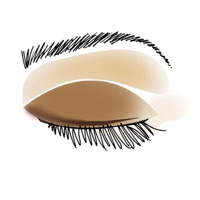6.  Trace on one last layer of the darkest color as liner, and smudge it with your finger or a cotton swab for a blurred effect.