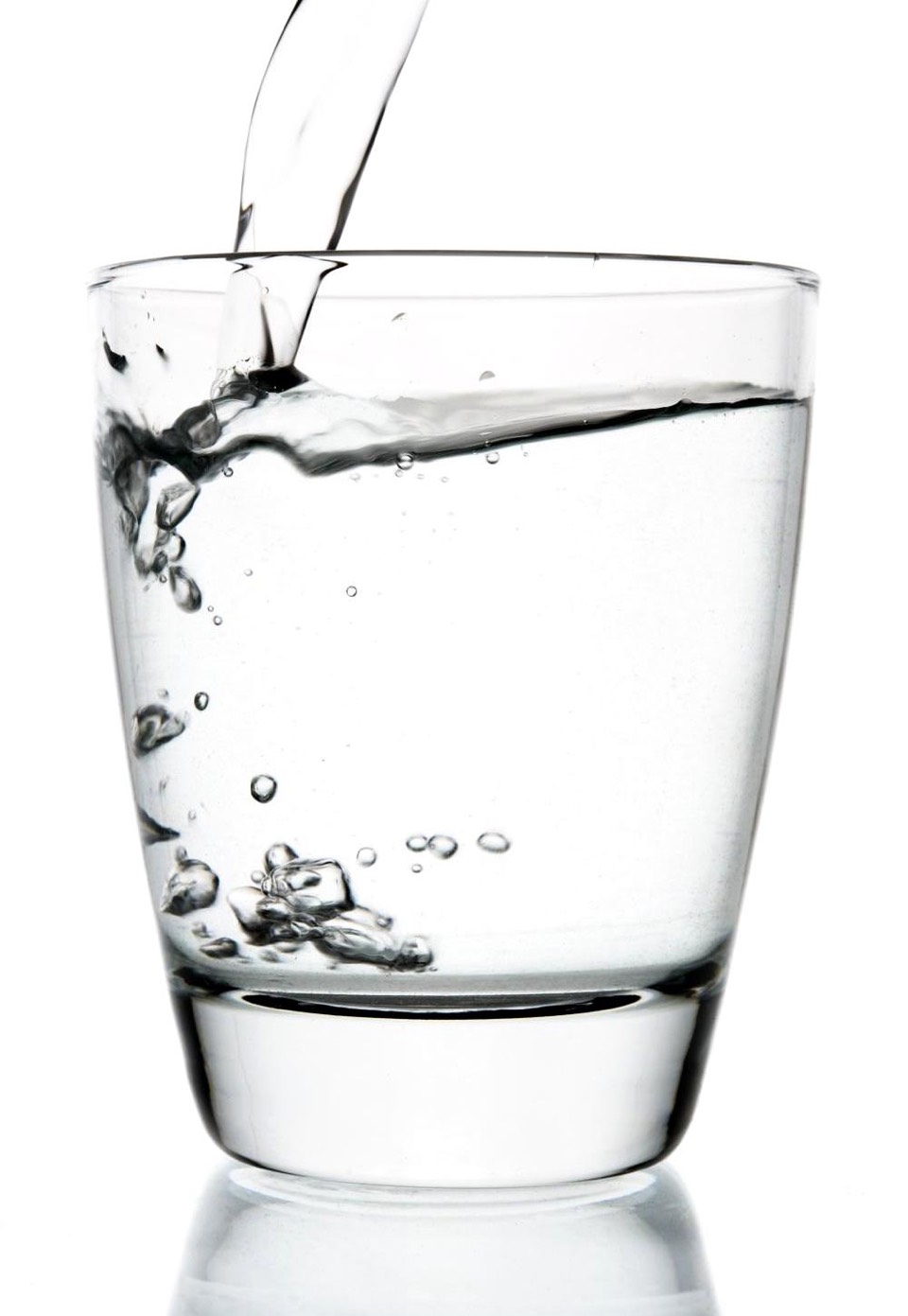 Step 2: while standing against the wall, drink a full glass of water