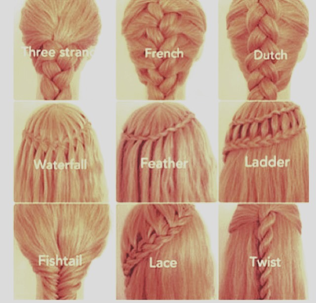 Feather braid, ladder and waterfall are my favorite.