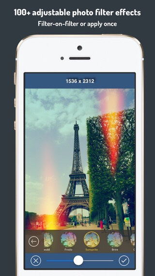 This app is great for adding light or more colors to the photos and there are so any different choices to choose from.