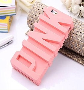 3D PINK big letter silicone case for iPhone 5 sold on Amazon for $3.00
