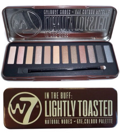 w7 in the buff lightly toasted = perfect dupe for urban decay naked palette