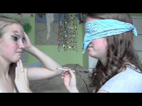 Do makeup! It could be blindfolded makeup or not!