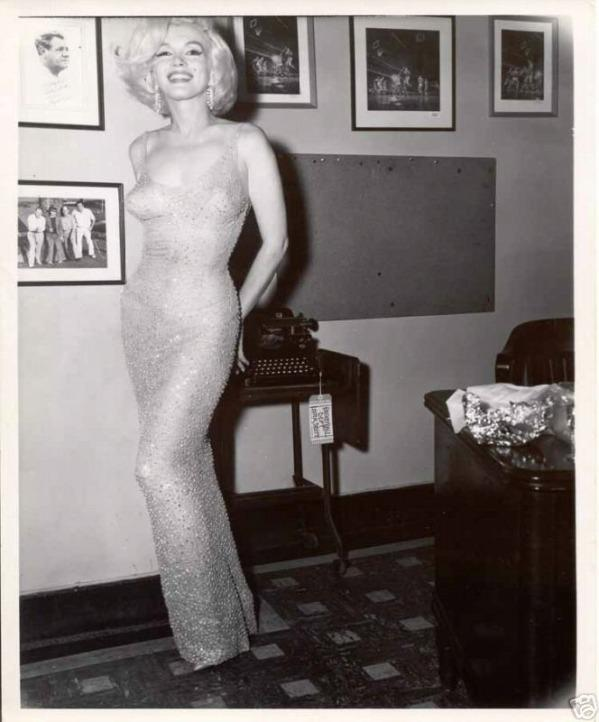 #7 Happy Birthday Mr. President  One of the most memorable moments of Marilyn's life is when she sang Happy Birthday to John F. Kennedy. The dress she wore during that evening was sold for the world record amount of $1,267,500. You've got to be a real fan of Marilyn to pay that much