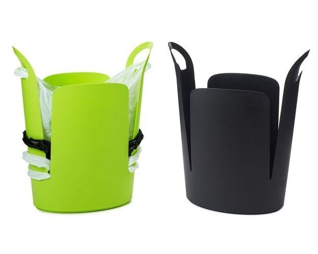 Stack it with plastic bags and you won't need to bother with rebagging it every time you take out the trash http://www.amazon.com/dp/B002RD7A38/?tag=buzz0f-20