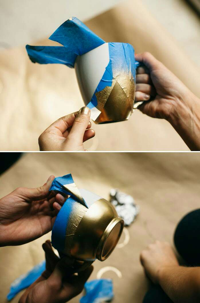 5. Don't let the tape sit on the mug too long after spraying (no more than 8 minutes) or the paint may peel off with the tape.