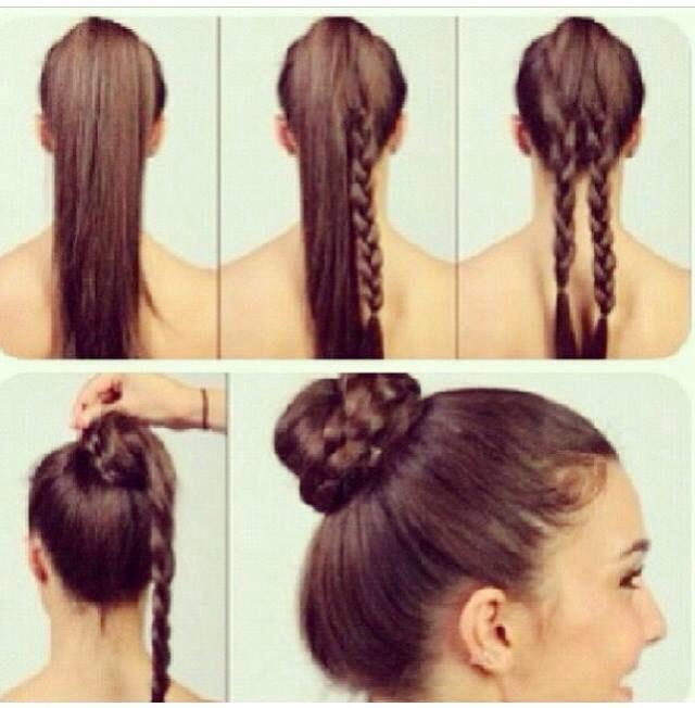 Its very easy to creat this Braided Bun! Please Give It A 👍 If You Like It 😊 Thanks Very Much ❤️