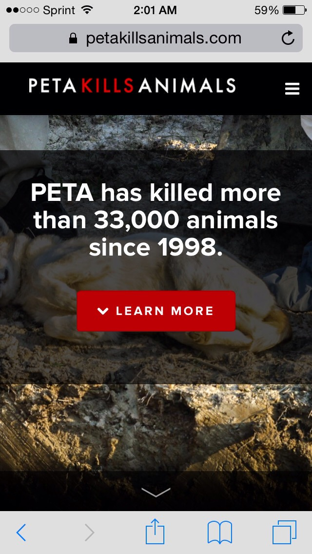By giving PeTA money, you're making this number rise!