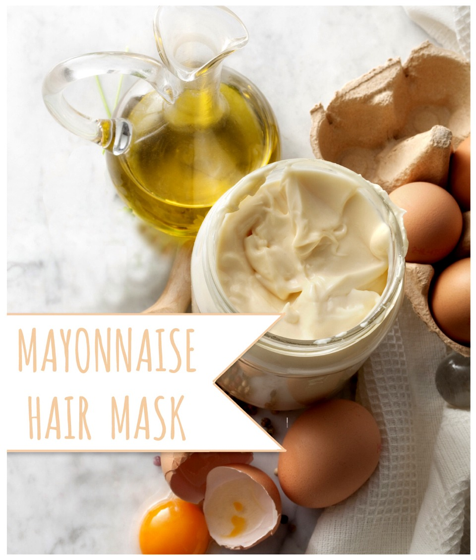 1 cup of mayo  1tsp of olive oil  mix together 1egg  put all over hair cover it with a bag.  leave in for 30mins wash out with shampoo & conditioner like usual. repeat 2x a week. for results