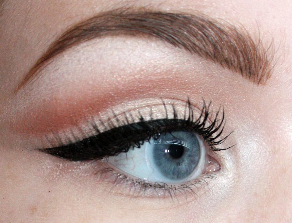 I added half lashes and mascara.