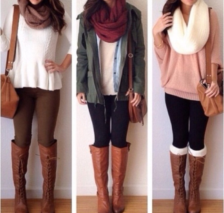 you can easily dress any simple outfit by adding a scarf or some super cute boots!