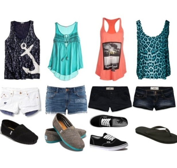 Low cut bootie shorts along with a cute pair of flats and an adorable ting-top