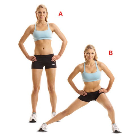 2. Side lunges