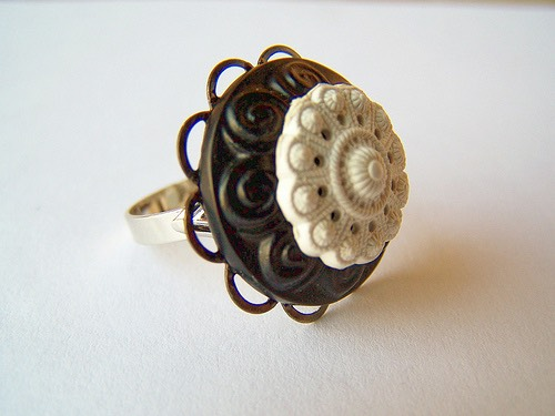 Step Six: Your button ring is finished! Hope you love it! Make sure to let it dry! This is a fun craft that is stylish and funky.