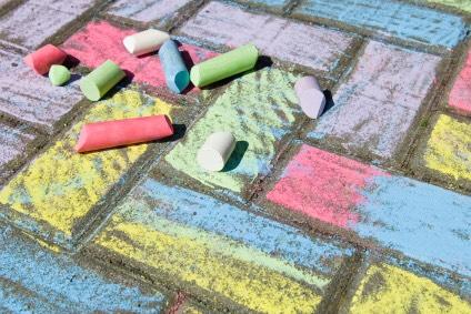 Play with sidewalk chalk!