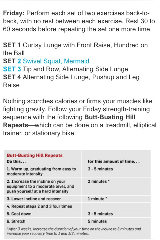 Here are sets for muscle toning and high calories burning you can start with.