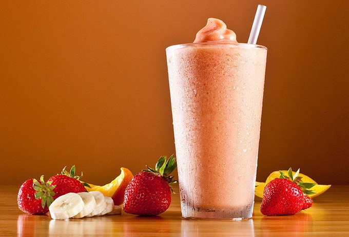Strawberry banana orange smoothie