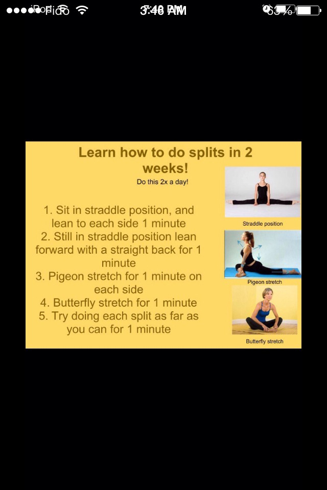 How To Stretch And Train Your Body How To Do The Splits In 2 Weeks