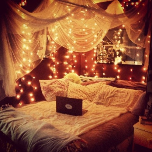 Add lots of fairy lights for a little nook
