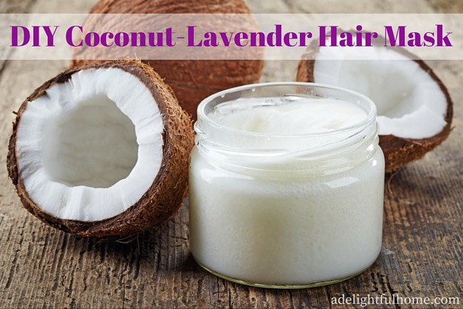 You can find further instructions here: DIY Coconut-Lavender Hair Mask  http://adelightfulhome.com/diy-coconut-lavender-hair-mask/