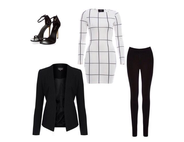 Number 4- fitted dress, blazer, pumps