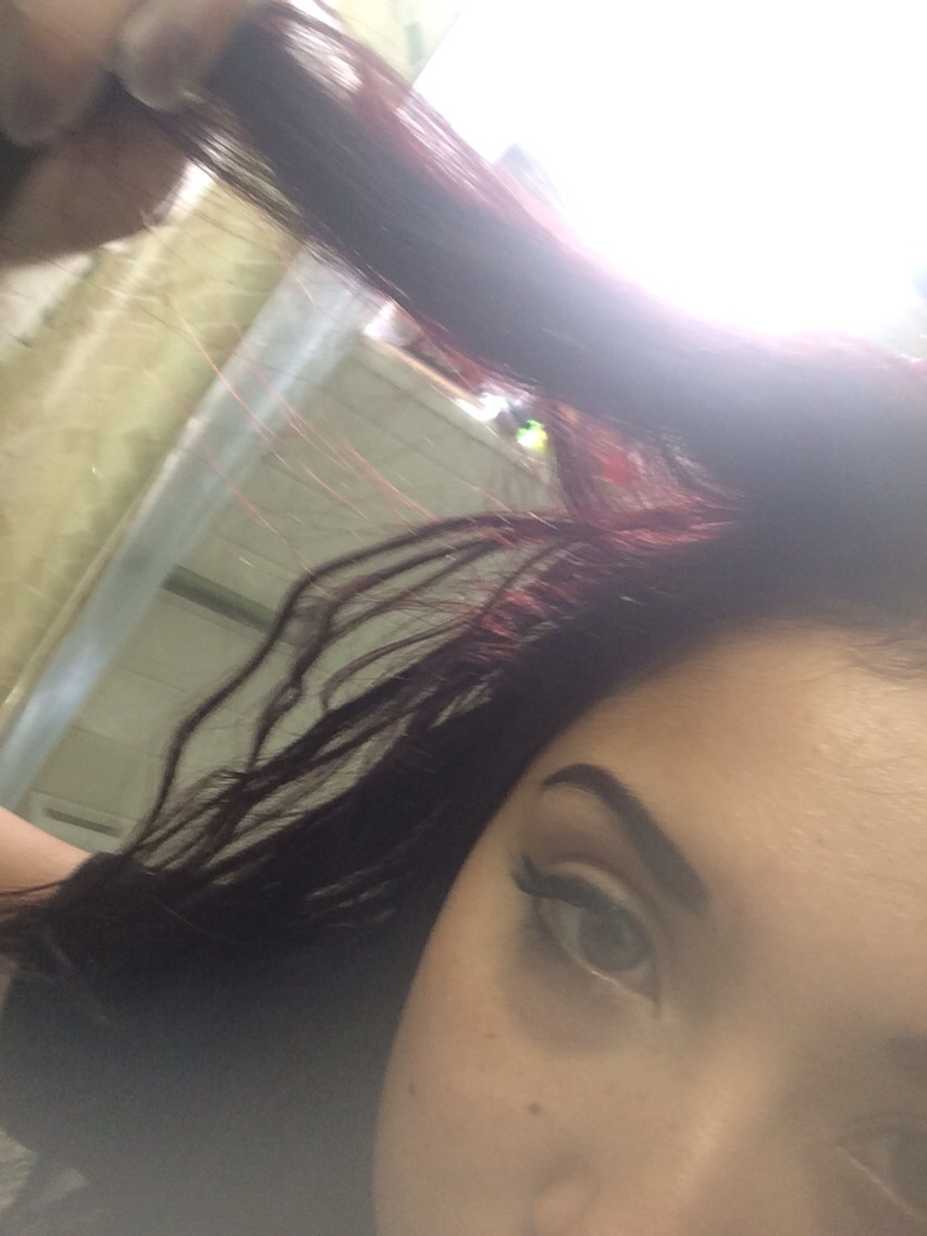 I died my hair red. It wasn't terrible but I wasn't a fan. I didn't know what to do Out of desperation I purchased a dark brown hair dye and out it over the red. (Don't do that!!).Nothing.... I was terrified, I looked into it and found =>