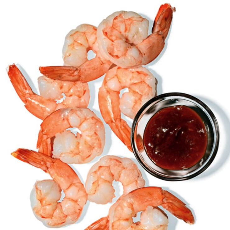 8 SHRIMP AND 4 TBSP COCKTAIL SAUCE The perfect appetizer—and no one at the table will know you're counting calories.
