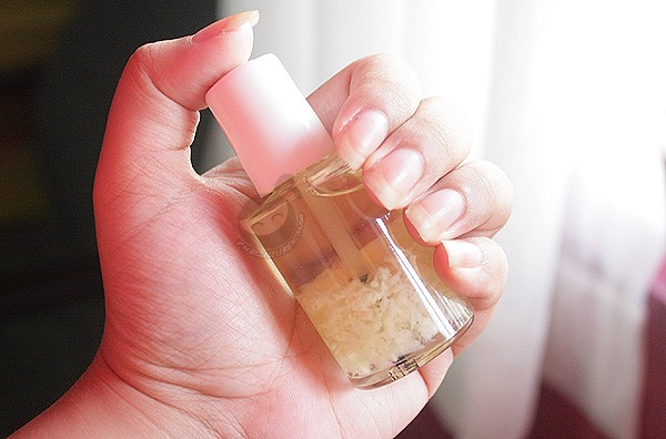 Then get some clear nail polish and mix it in. Shake it up a bit and paint on nails. Do this 2 times a day and u will start to see growth very soon!