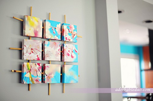 Design a bunch of DIY wall decor and add some color.
