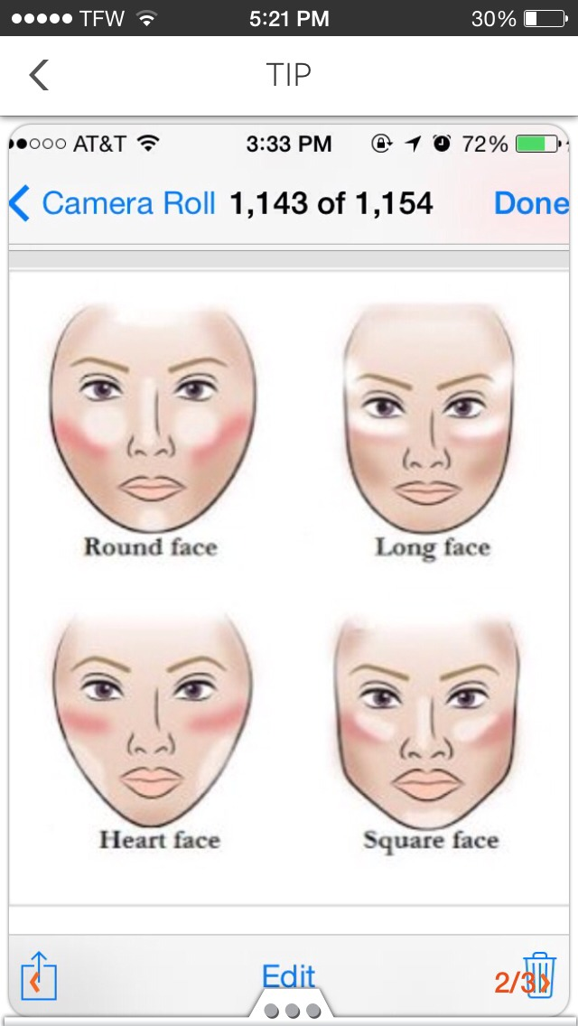 Ways to contour different face shapes
