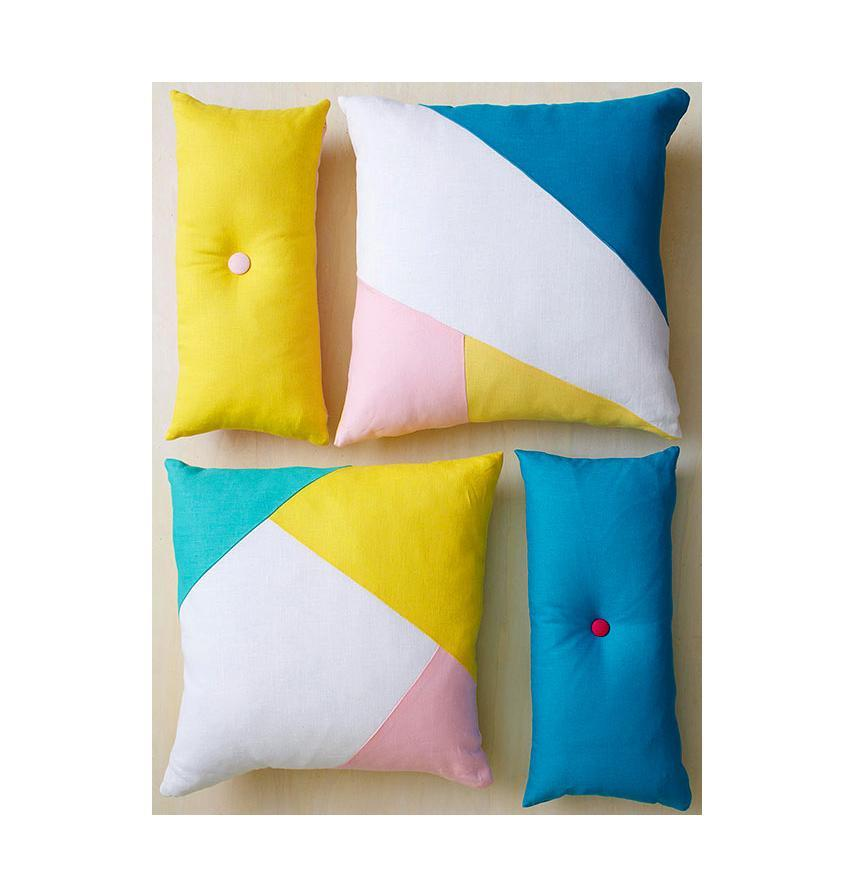 Dress up any room with these creative pillows that are easy on the eyes and effortless to make.