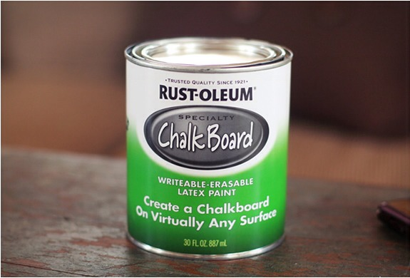 Chalk boards are awesome & the bigger the better! However, it was be expensive and hard to install a wall sized board. With this paint and the right method of application, you can turn any wall in your home into a giant chalkboard!