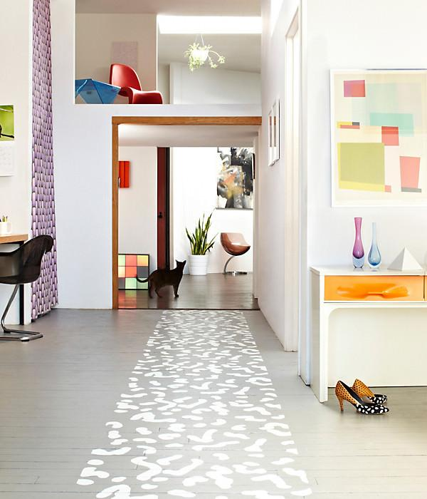 How to Paint a Floor Prep – The floor in question must be properly prepped in order for the finish to last. That usually involves sanding and priming the floor. Non porous surfaces such as tile or laminate require a specialty primer to seal the surface, such as BIN or KILZ.