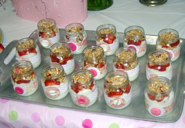 Mason Jar Pastries Decorated With Ribbons And Buttons   Try A Cheesecake  Recipe.