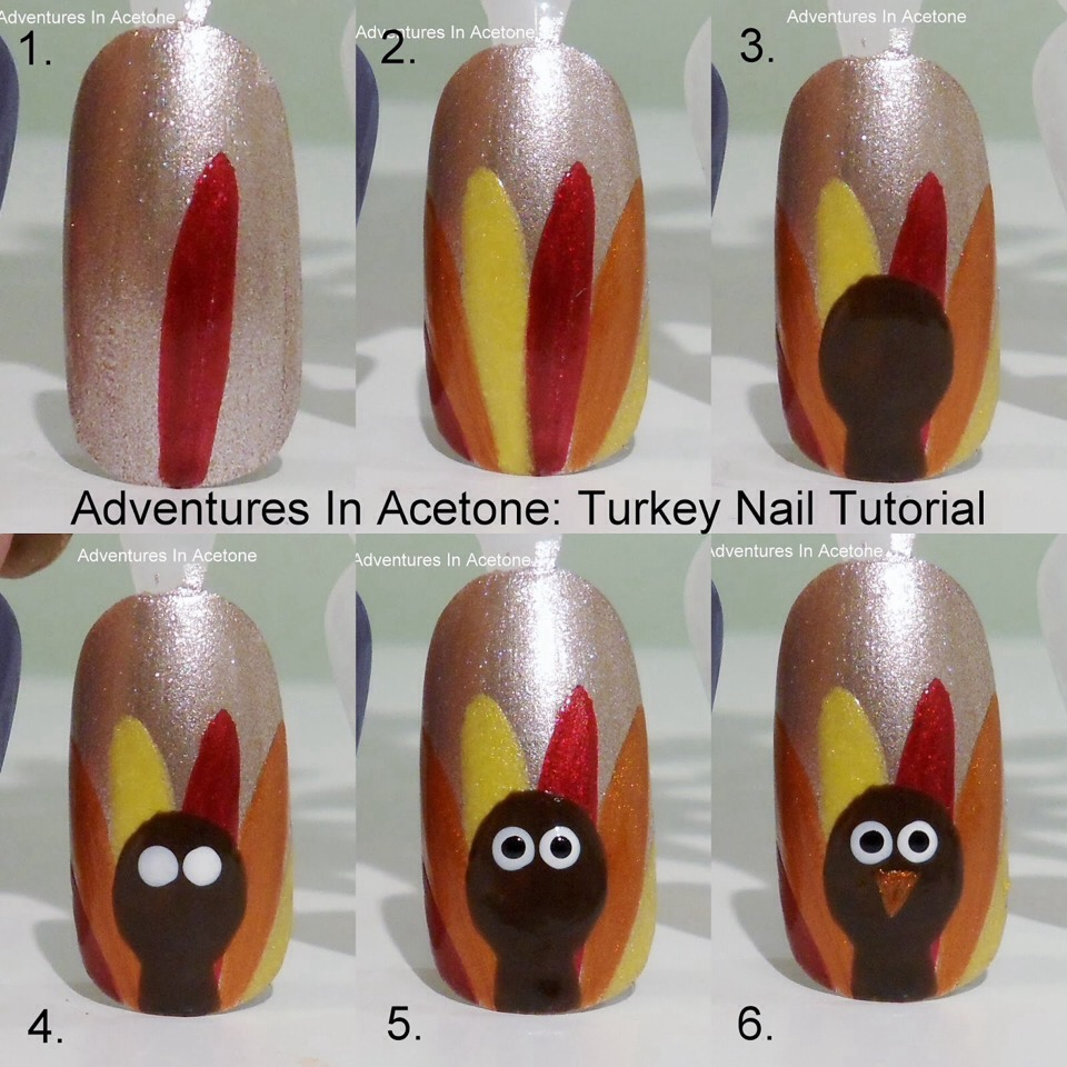 Easy Thanksgiving Nail Art! 💛💚 - Musely