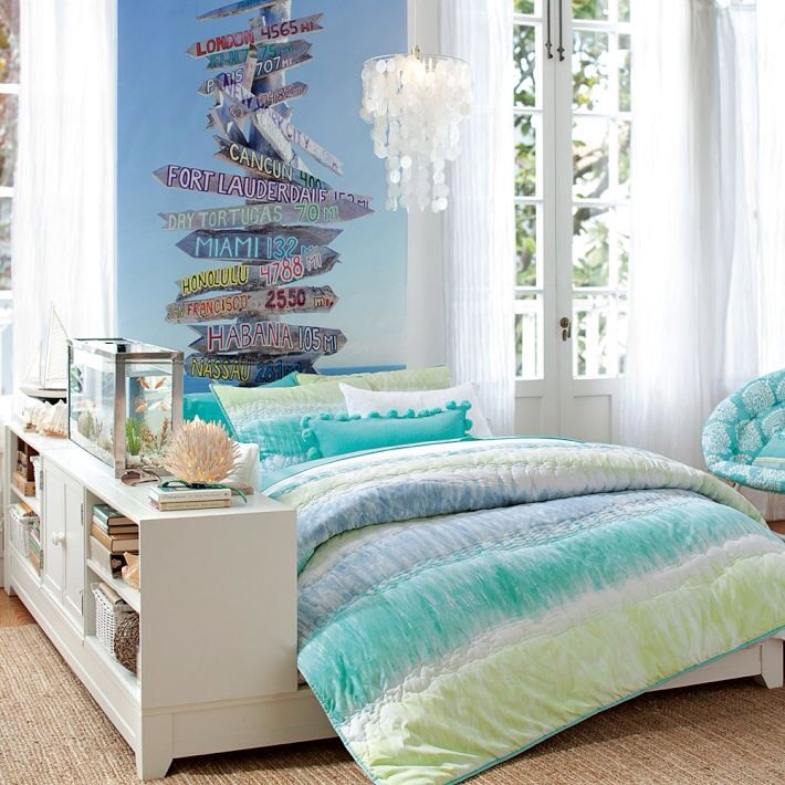 Blue usually brightens up the room and gives the feel that you are in the beach!!