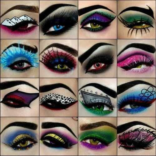 but don't forget to be crazy with it sometimes. here are some cute wacky fun eye makeup ideas!