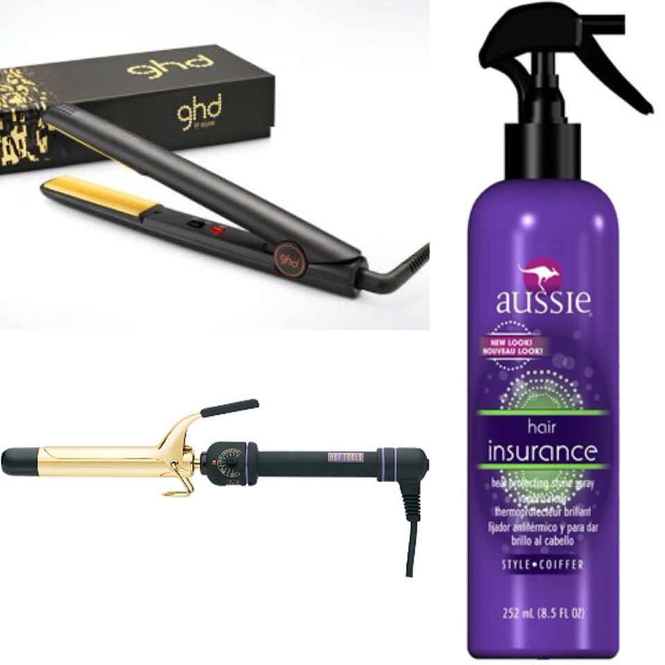 Use a heat protectant to avoid damaging your hair from the heat of a flat iron, curling iron etc.