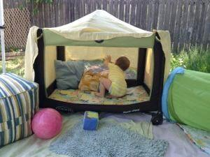 how to turn a playpen into a toddler bed by georgette musely. Black Bedroom Furniture Sets. Home Design Ideas